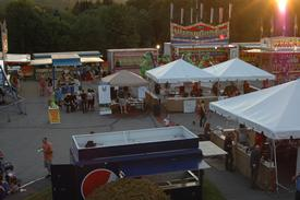 The food tent, fried dough tent, raffle tent, and drink trailer all ran by members of the SSFD