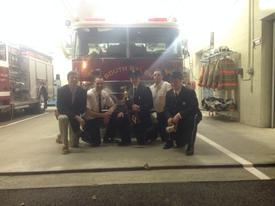 Best Truck 2014:  Engine 168.  Some of the company pictured L to R; Probationary Firefighter Jack Durkin, Lt. Mike Davison, Jr Member Cody Harris, FF Gabe Frolick, and Probationary Firefighter Stephen Muoio.