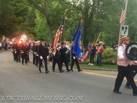 Members marching in Katonah's Parade  (Frank Becerra/Journal News)