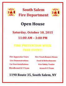 SSFD 2015 Open House Flyer