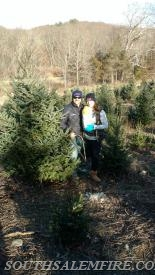 Davison Family with their tree