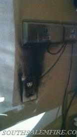 Electrical fire from the 1st call